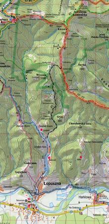 GORCE I PIENINY laminowana mapa turystyczna 1:50 000 EXPRESSMAP 2021 (3)