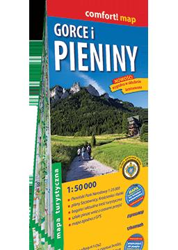 GORCE I PIENINY laminowana mapa turystyczna 1:50 000 EXPRESSMAP 2021 (1)
