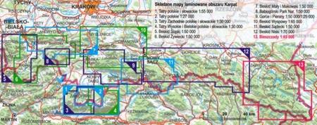 BIESZCZADY laminowana mapa turystyczna EXPRESSMAP 2021 (2)