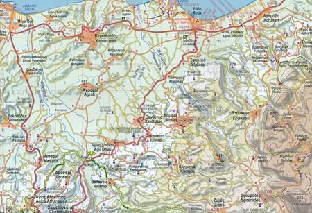 KORFU CORFU mapa turystyczna 1:40 000 ANAVASI 2020 (2)