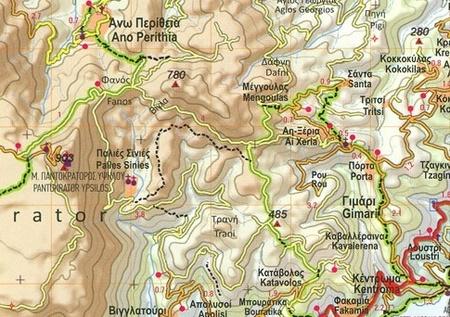 KORFU CORFU mapa turystyczna 1:40 000 ANAVASI 2020 (3)