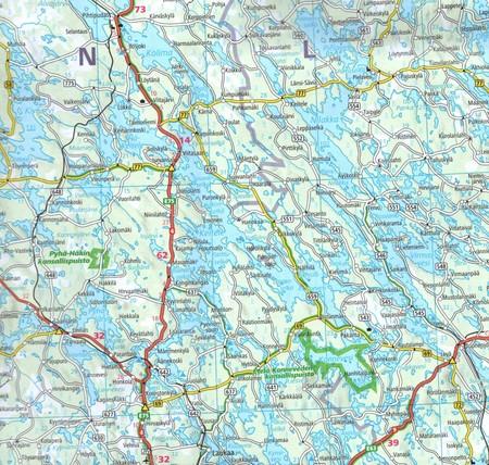 FINLANDIA mapa 1:650 000 KUMMERLY+FREY (3)