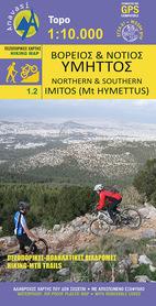 IMITOS Mt Hymettus mapa 1:10 000 ANAVASI
