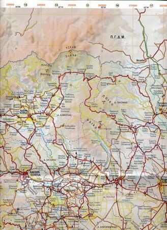MACEDONIA (Grecka) mapa samochodowa 1:230 000 ANAVASI (4)