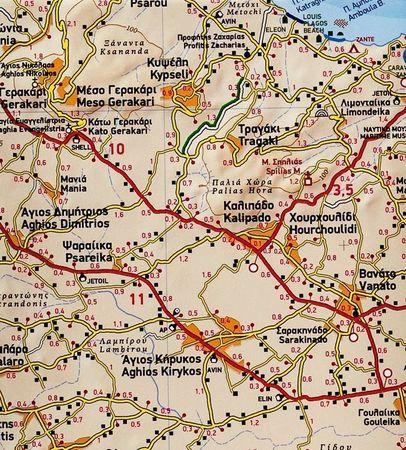 ZAKYNTOS mapa wodoodporna 1:50 000 TERRAIN (2)