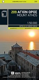 GÓRA ATHOS wodoodporna mapa turystyczna 1:50 000 TERRAIN