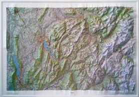 Annecy / Mont-Blanc mapa plastyczna ścienna 1:100 000 IGN