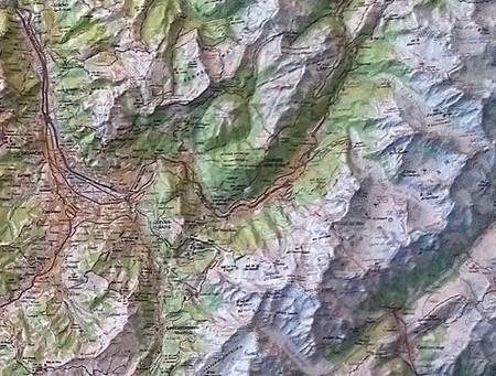 Annecy / Mont-Blanc mapa plastyczna ścienna 1:100 000 IGN (2)