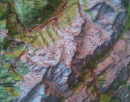 Annecy / Mont-Blanc mapa plastyczna ścienna 1:100 000 IGN (3)