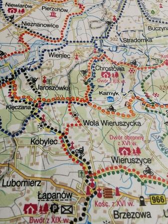 KRAKÓW I OKOLICE WSCHÓD mapa rowerowa 1:100 000 EUROPILOT 2021 (3)