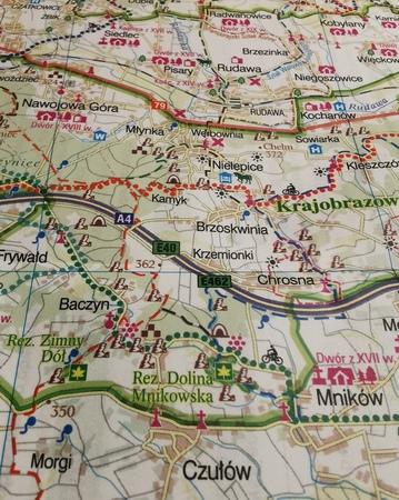 KRAKÓW I OKOLICE ZACHÓD mapa rowerowa 1:100 000 EUROPILOT 2021 (2)