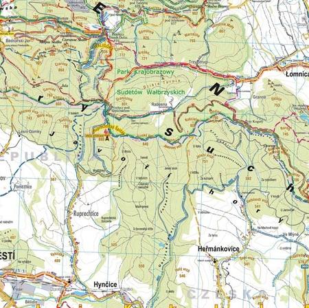GÓRY WAŁBRZYSKIE I KAMIENNE mapa turystyczna 1:40 000 STUDIO PLAN 2021 (4)