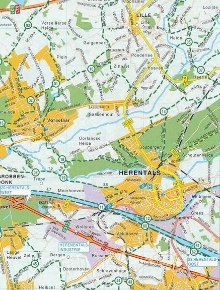 BELGIA atlas rowerowy 1:75 000 FALK 2021 (2)