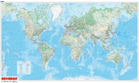 ŚWIAT FIZYCZNY mapa ścienna 140 x 82 cm KUMMERLY FREY 2020 (2)