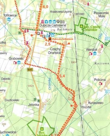 PODLASKIE PÓŁNOC mapa rowerowa 1:100 000 EUROPILOT 2021 (3)