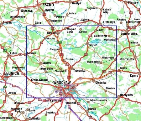 OKOLICE WROCŁAWIA komplet 2 map 1:100 000 STUDIO PLAN (2)