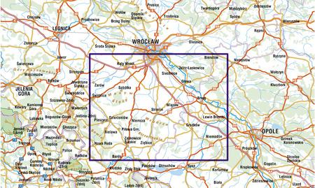 OKOLICE WROCŁAWIA komplet 2 map 1:100 000 STUDIO PLAN (4)