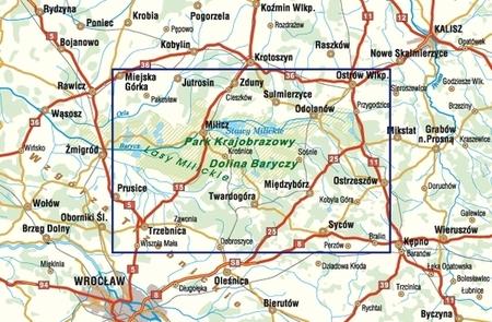 DOLINA BARYCZY CZ. WSCH STAWY MILICKIE mapa 1:70 000 STUDIO PLAN 2021 (2)