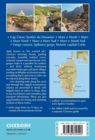KORSYKA Corsica Short treks CICERONE 2021 (2)