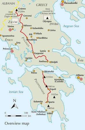 GRECJA Greece trekking / Peloponnese & Pindos way przewodnik CICERONE (2)