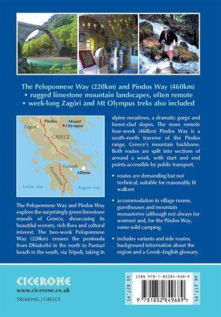 GRECJA Greece trekking / Peloponnese & Pindos way przewodnik CICERONE (3)