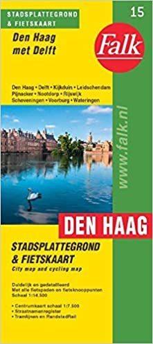 HAGA I DELFT plan miasta FALK (1)