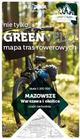 WARSZAWA I OKOLICE ZACHÓD mapa rowerowa 1:100 000 EUROPILOT 2021