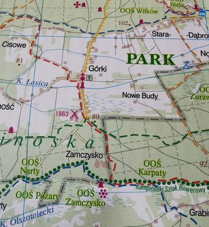 WARSZAWA I OKOLICE ZACHÓD mapa rowerowa 1:100 000 EUROPILOT 2021 (2)