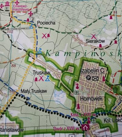 WARSZAWA I OKOLICE ZACHÓD mapa rowerowa 1:100 000 EUROPILOT 2021 (3)