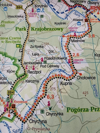 PODKARPACKIE GREEN VELO mapa rowerowa 1:100 000 EUROPILOT 2021 (2)