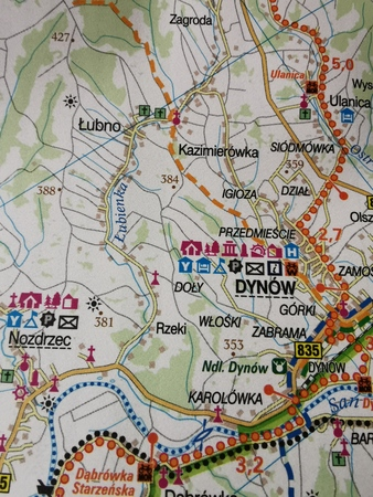 PODKARPACKIE GREEN VELO mapa rowerowa 1:100 000 EUROPILOT 2021 (3)