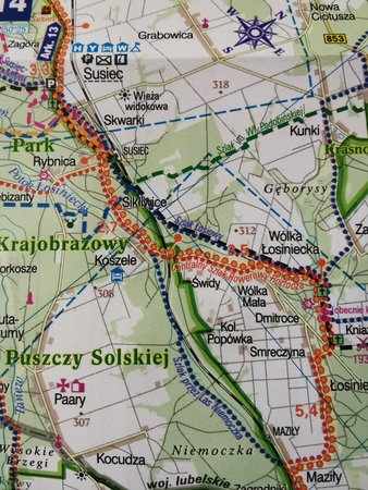 LUBELSKIE GREEN VELO mapa rowerowa 1:100 000 EUROPILOT 2021 (3)