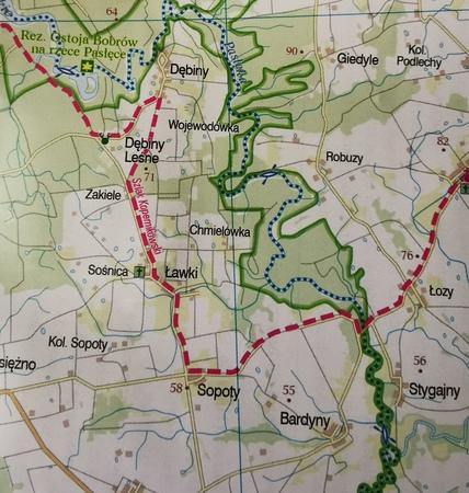 WARMIŃSKO-MAZURSKIE ZACHÓD mapa rowerowa 1:100 000 EUROPILOT 2021 (2)