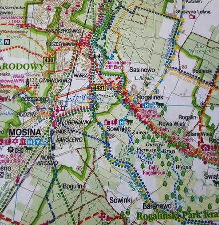 POZNAŃ I OKOLICE ZACHÓD mapa rowerowa 1:100 000 EUROPILOT 2021 (2)