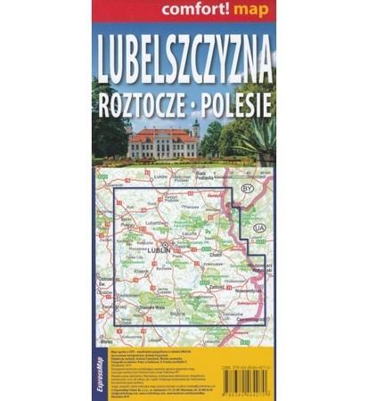 LUBELSZCZYZNA ROZTOCZE POLESIE mapa laminowana 1:175 000 EXPRESSMAP 2021 (2)