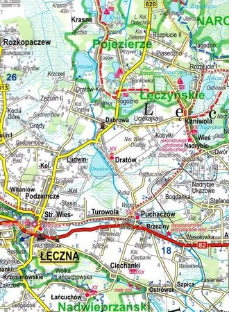 LUBELSZCZYZNA ROZTOCZE POLESIE mapa laminowana 1:175 000 EXPRESSMAP 2021 (4)