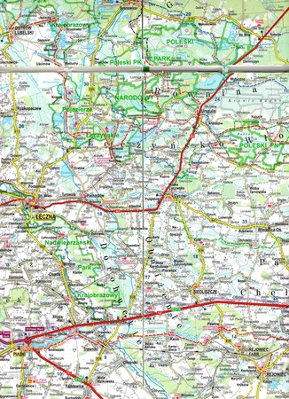 LUBELSZCZYZNA ROZTOCZE POLESIE mapa laminowana 1:175 000 EXPRESSMAP 2021 (5)