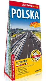 POLSKA 1:750 000 mapa laminowana EXPRESSMAP 2021