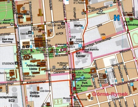 ŁÓDŹ plan miasta laminowany 1:21 000 DEMART 2021 (2)