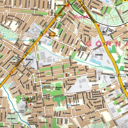 ŁÓDŹ plan miasta laminowany 1:21 000 DEMART 2021 (3)
