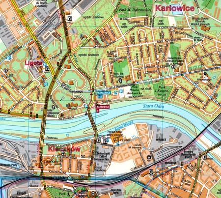 WROCŁAW plan miasta laminowany 1:20 000 DEMART 2021 (3)