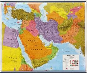 BLISKI WSCHÓD laminowana mapa ścienna MAPS INTERNATIONAL