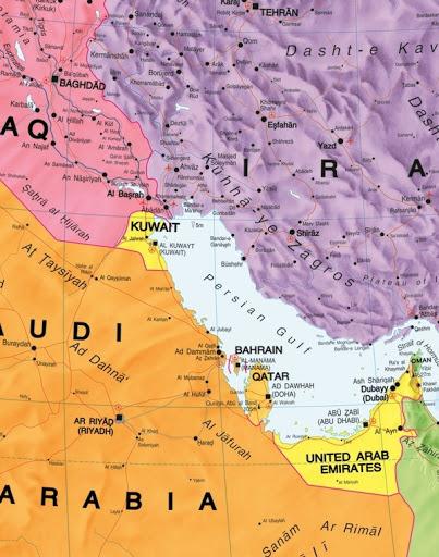 BLISKI WSCHÓD laminowana mapa ścienna MAPS INTERNATIONAL (3)