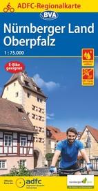 NORYMBERGA I GÓRNY PALATYNAT mapa rowerowa 1:75 000 ADFC 2021