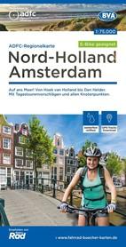 HOLANDIA PÓŁNOCNA AMSTERDAM mapa rowerowa 1:75 000 ADFC 2021
