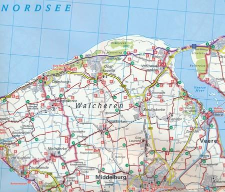 HOLANDIA PÓŁNOCNA AMSTERDAM mapa rowerowa 1:75 000 ADFC 2021 (3)