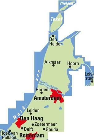 HOLANDIA PÓŁNOCNA AMSTERDAM mapa rowerowa 1:75 000 ADFC 2021 (2)