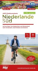 HOLANDIA POŁUDNIOWA mapa rowerowa 1:150 000 ADFC 2020