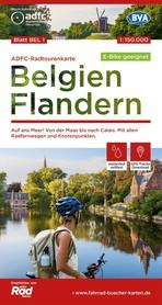 BELGIA FLANDRIA mapa rowerowa 1:150 000 ADFC 2021
