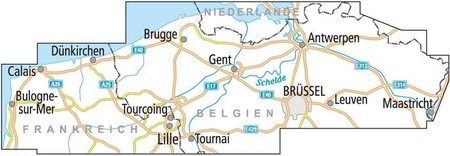 BELGIA FLANDRIA mapa rowerowa 1:150 000 ADFC 2021 (3)